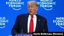 دونالد ترامپ، رئیس جمهوری آمریکا، در داووس