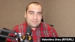 Sergiu Daranuta în studioul Europei Libere la Chișinău