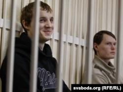 Зьміцер Дашкевіч і Эдуард Лобаў, суд.