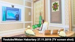 Совещание президента Туркменистана Гурбангулы Бердымухамедова по видеосвязи с членами правительства и главами регионов, 2 декабря, 2019