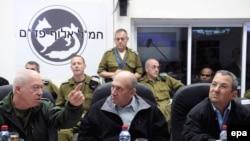 آهود اولمرت در سخنان خود به زمان بندی برای پایان جنگ در غزه اشاره نکرد. (عکس: EPA)