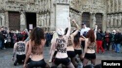 Pamje nga një protestë e mëparshme e grupit FEMEN