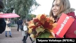 На акции в поддержку Алексея Навального в Санкт-Петербурге