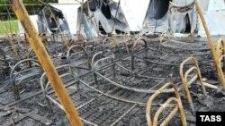 """Сгоревший детский палаточный лагерь на базе отдыха """"Холдоми"""""""
