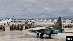 Российские военные на авиабазе в Сирии. Хмеймим, 15 марта 2016 года.