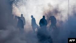 Pamje nga protesta e 18 nëntorit në Prishtinë