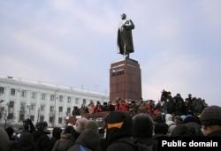 Чыгышлар Ленин һәйкәле янында яңгырады