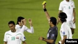 من مباراة العراق وأستراليا في كأس آسيا الأخيرة بالدوحة