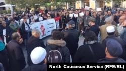 Митинг в поддержку Палестины в Ницце, Франция