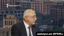 Կենտրոնական ընտրական հանձնաժողովի նախագահ Տիգրան Մուկուչյանը «Ազատության» ստուդիայում, արխիվ: