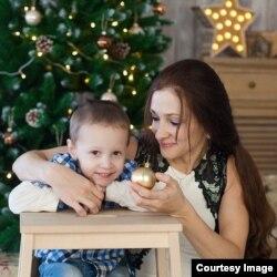 Анастасия с сыном