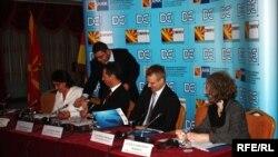 Претставници од македонски банки и од македонско-германското стопанско здружение