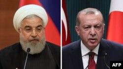 رجب طیب اردوغان (راست) و حسن روحانی.