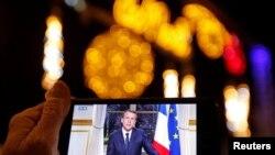 Президент Франції Емманюель Макрон виступає з новорічною промовою
