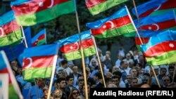 Протест оппозиции против референдума по внесению изменений в Конституцию. Баку, 18 сентября 2016 года.