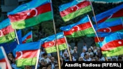 Azerbaijan. Baku. Protest action of opposition Musavat Party in Baku