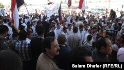 تظاهرة في ميسان تأييد للقوات الأمنية العراقية