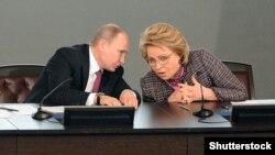 Президент России Владимир Путин и глава Совета Федерации Валентина Матвиенко