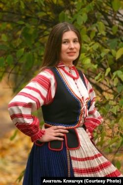 Першая салістка музычнага гурту «Ліцьвіны» Натальля Матыліцкая. Фота Анатоля Клешчука