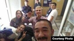 Задержанные участники акции против пенсионной реформы во Владивостоке