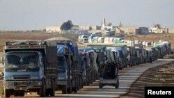 Аль-Баб шаарынын четиндеги унаа кербени