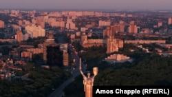Pamje e një pjese të Kievit në Ukrainë