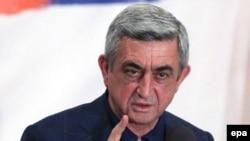 Действующий президент Армении Серж Саргсян.