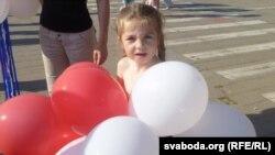 Ялінка Салаўёва, вучаніца беларускамоўнай клясы