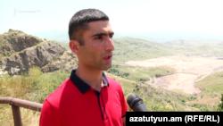 Բողոքի նախաձեռնողներից Ջերմուկի բնակիչ Վազգեն Գալստյանը