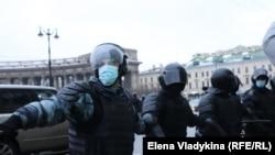 Акция протеста в Петербурге 23 января