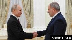 Ռուսաստանի նախագահ Վլադիմիր Պուտինը Կրեմլում ընդունում է Հայաստանի վարչապետ Նիկոլ Փաշինյանին, Մոսկվա, 11-ը հունվարի, 2021թ․