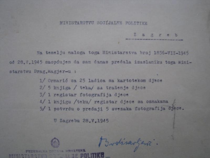 Po nalogu Ministarstva socijalne politike Diana je predala svoju kartoteku