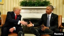 Barack Obama i Donald Trump, ilustrativna fotografija