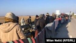 Izbjeglice na prelazima Šid i Tovarnik, Novembar 2016.