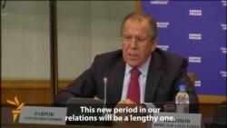 Lavrov: Russia-U.S. Ties At 'Rock Bottom'