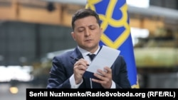 Volodimir Zelenski mətbuat konfransında