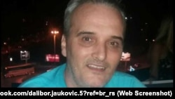 A profile photo from a social media account in the name of Dalibor Jaukovic, who Montenegrin police say committed suicide after throwing a hand grenade into the U.S. Embassy compound in Podgorica on February 22.