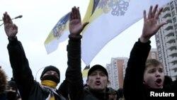 Pamje nga marshi i Ditës së Unitetit, Moskë,