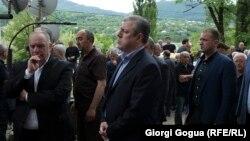 Премьер-министр Грузии на похоронах погибших работников шахты