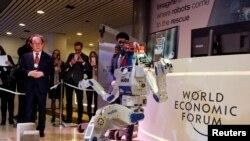 Davosda robot təqdimatı (Arxiv)