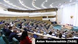 Заседание Совета Федерации в России