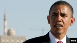 Barack Obama speaking in Amman