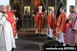Некалькі сьвятароў прыехалі на парафіяльнае сьвята берасьцейскіх грэка-каталікоў