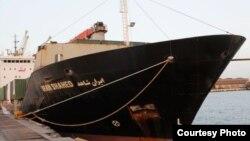 کشتی «ایران شاهد» که راهی یمن شده است.