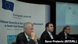 Sa skupa Evropskih pokreta u Podgorici, 15. decembar 2010