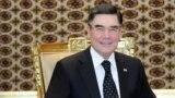 turkmenistan. turkmen president's new image. turkmen president wearing glasses