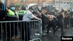 Протести во Њујорк поради смртта на Џорџ ФЛојд. 30.5.2020.