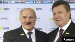 Аляксандар Лукашэнка і Віктар Януковіч