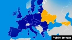 Harta ţărilor UE şi ale Parteneriatului Estic