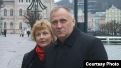 Марына Адамовіч і Мікалай Статкевіч (архіўнае фота)